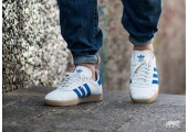 Кроссовки Adidas Gazelle White/Blue - Фото 4