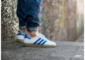 Кроссовки Adidas Gazelle White/Blue - Фото 3