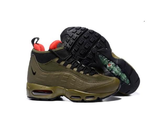 Кроссовки Nike Air Max 95 Sneakerboot Dark Brown/Red