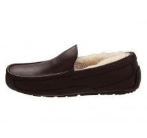 UGG ASCOT SLIPPER LEATHER BROWN