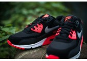 Кроссовки Nike Air Max 90 Black/Red - Фото 4