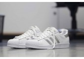 Кроссовки Adidas Superstar White Silver - Фото 5