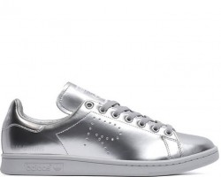 Кроссовки Raf Simons x Adidas Stan Smith Metallic Silver