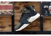 Кроссовки Nike Huarache X Acronym City MID Leather Haki/Black - Фото 2