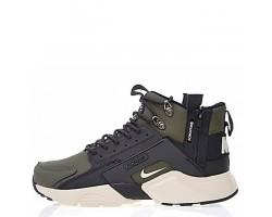 Кроссовки Nike Huarache X Acronym City MID Leather Haki/Black