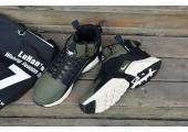 Кроссовки Nike Huarache X Acronym City MID Leather Haki/Black - Фото 3