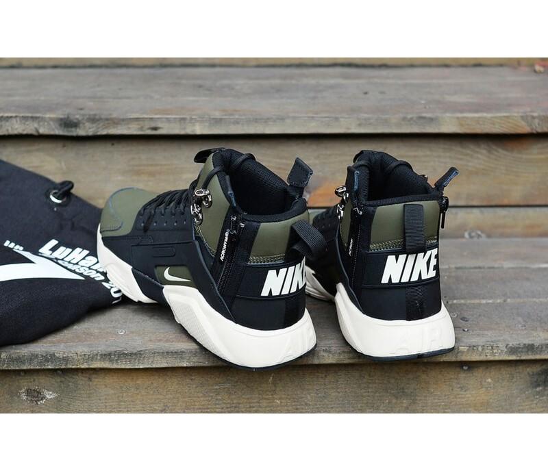 19287e88 Кроссовки Nike Huarache X Acronym City MID Leather Haki/Black купить ...