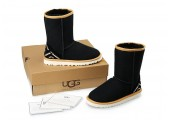 UGG Classic Short Black Ornament - Фото 3