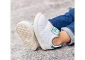 Детские кроссовки Adidas Stan Smith White/Green - Фото 2