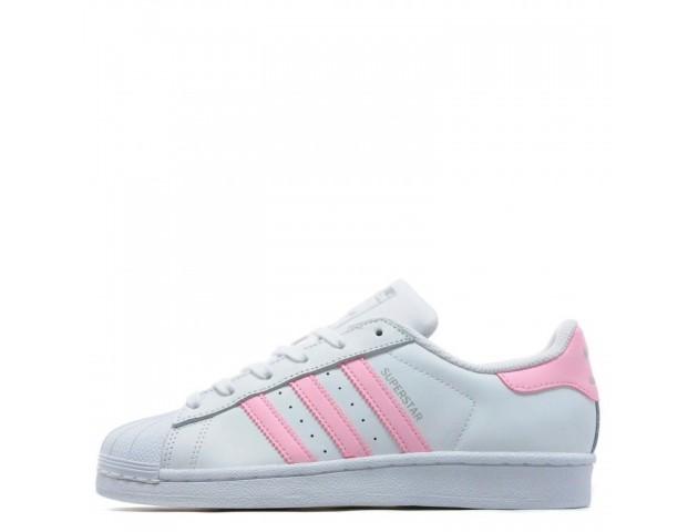 Кроссовки Adidas Superstar White/Pink