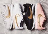 Кроссовки Nike Cortez Glitter Pack Black/Gold - Фото 2