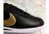 Кроссовки Nike Cortez Glitter Pack Black/Gold - Фото 3