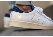 Кроссовки Adidas Consortium X UNDFTD X Bape Superstar 80V White - Фото 4