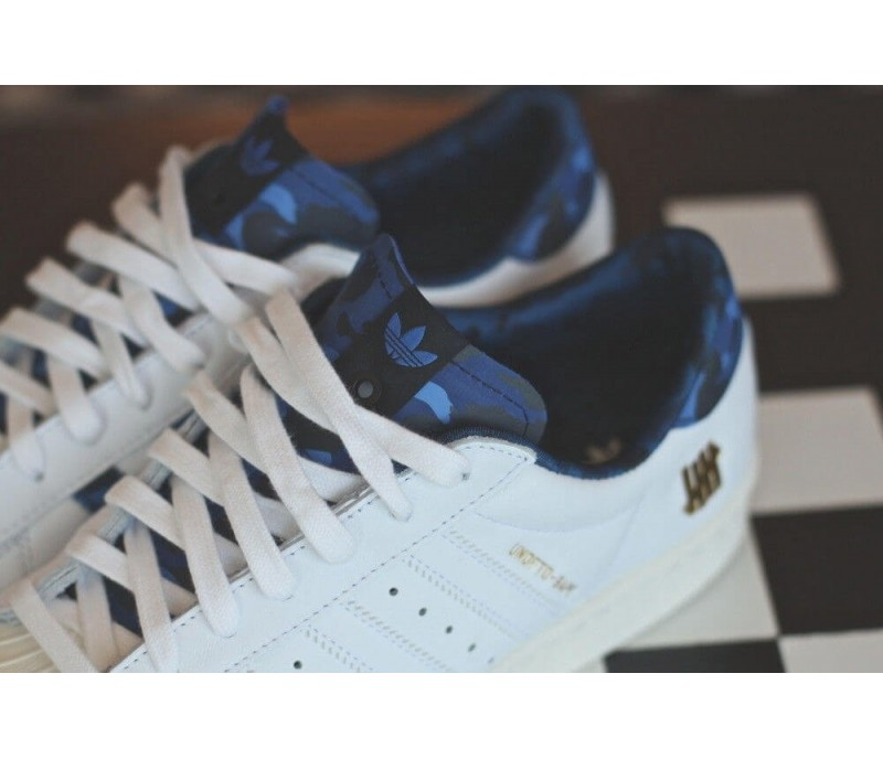 кроссовки Adidas Consortium X Undftd X Bape Superstar 80v White