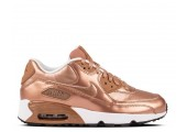 Кроссовки Nike Air Max 90 SE Leather GS Metalic Red Bronze - Фото 2