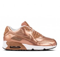 Кроссовки Nike Air Max 90 SE Leather GS Metalic Red Bronze