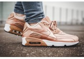 Кроссовки Nike Air Max 90 SE Leather GS Metalic Red Bronze - Фото 5