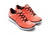 Кроссовки Nike Free Flyknit NSW Hot Lava/White - Фото 1