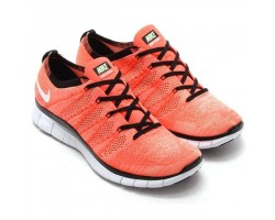 Кроссовки Nike Free Flyknit NSW Hot Lava/White