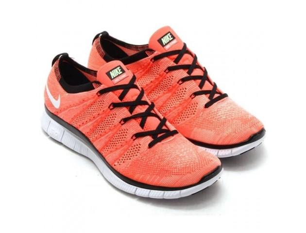 Кроссовки Nike Free Flyknit NSW Hot Lava/White