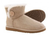 UGG Bailey Button Mini Sand - Фото 5