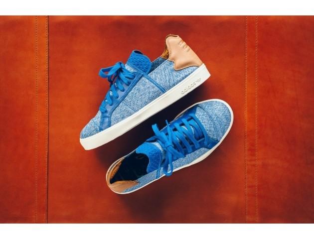 Кроссовки-кеды Pharrell Williams x Adidas Elastic Lace Blue/Cream