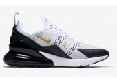 Кроссовки Nike Air Max 270 White/Black/Metallic Gold - Фото 5