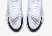 Кроссовки Nike Air Max 270 White/Black/Metallic Gold - Фото 4