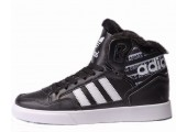 Кроссовки Adidas Extaball Winter Black/White С МЕХОМ - Фото 1