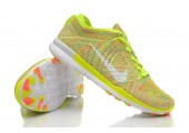 Кроссовки Nike Free TR Fit Flyknit Yellow-Green - Фото 3