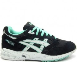Кроссовки Asics Gel Saga II Black Light Grey Mint H137K