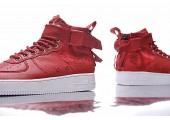 Кроссовки Nike SF Air Force 1 Utility Mid Red/White - Фото 9