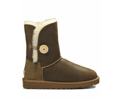 UGG BAILEY BUTTON II BOOT LEATHER CHOCOLATE
