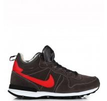 Кроссовки Nike Internationalist Black/Red С МЕХОМ
