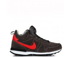 Кроссовки Nike Internationalist Black/Red С МЕХОМ