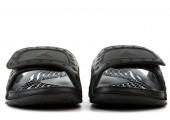 Шлепанцы Air Jordan Hydro 13 All Black - Фото 4