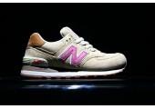 Кроссовки New Balance 574 Tan/Pink - Фото 6