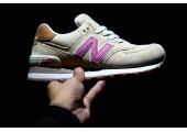 Кроссовки New Balance 574 Tan/Pink - Фото 2