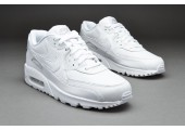 Кроссовки Nike Air Max 90 Leather All White - Фото 5
