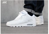 Кроссовки Nike Air Max 90 Leather All White - Фото 3