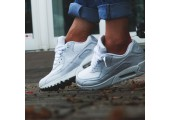 Кроссовки Nike Air Max 90 Leather All White - Фото 6