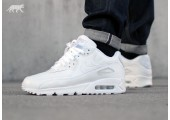 Кроссовки Nike Air Max 90 Leather All White - Фото 8