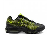 Кроссовки Nike Air Max 95 Ultra Jacquard Black/Lime Green - Фото 1