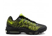 Кроссовки Nike Air Max 95 Ultra Jacquard Black/Lime Green - Фото 4