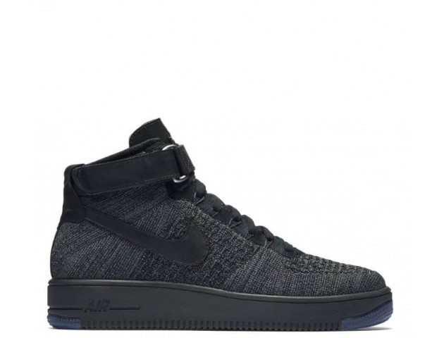 Кроссовки Nike Air Force 1 Ultra Flyknit Mid Dark Grey/Black