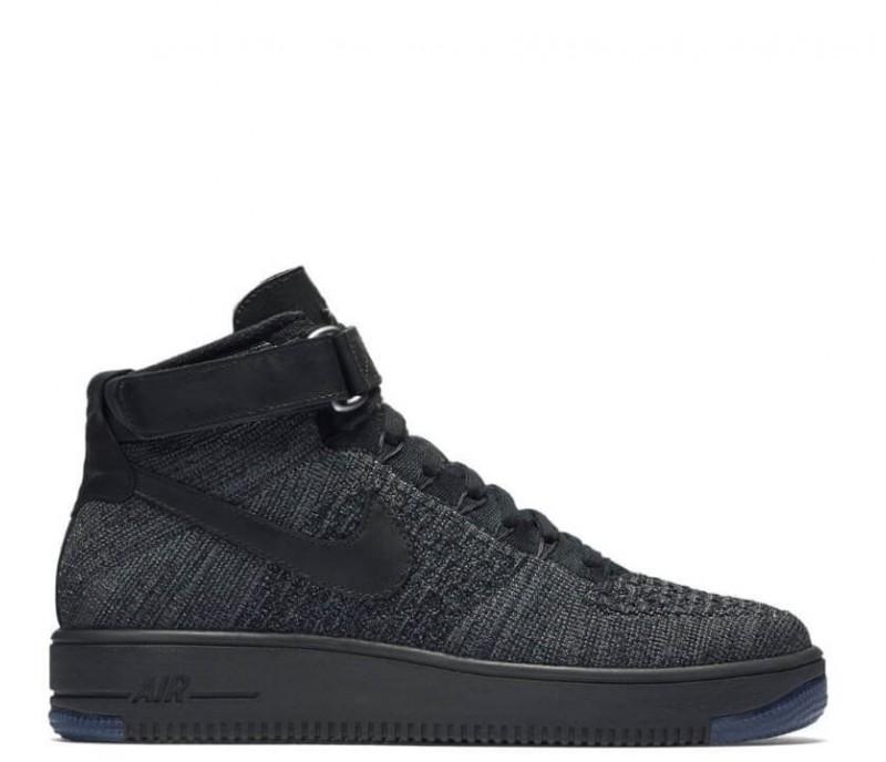 59b1df92 Кроссовки Nike Air Force 1 Ultra Flyknit Mid Dark Grey/Black купить ...