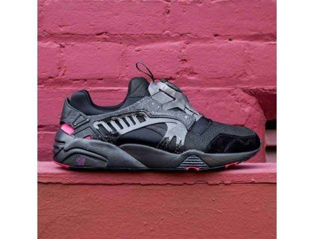 Кроссовки Puma Disk Blaze for Crossover Black/Rose/Red