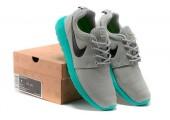 Кроссовки Nike Roshe Run Light Grey/Teal - Фото 6