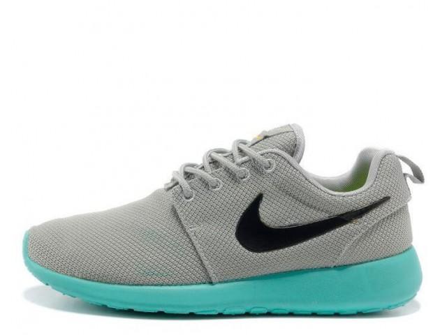 Кроссовки Nike Roshe Run Light Grey/Teal
