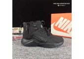Кроссовки Nike Huarache X Acronym City MID Leather All Black С МЕХОМ - Фото 2